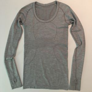 lululemon   run swiftly tech long sleeve in gray 4